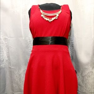 Cute Red Midi Dress for any occasion